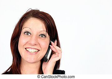Woman speaking on cellular - Woman on the phone