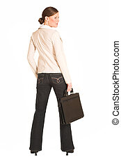 Business Woman 220GS - Business woman dressed in jeans and a...