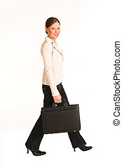 Business Woman 223GS - Business woman dressed in jeans and a...