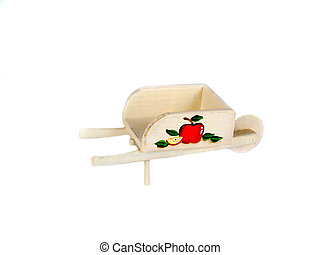 Apple cart - , an apple cart over white