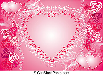 Valentine background, vector - Valentine background,...