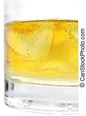 Whiskey Cornered - Whiskey and ice cornered over white