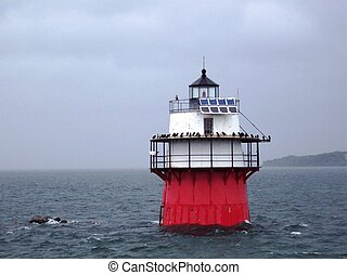Lighthouse off the coast of Cape Cod.