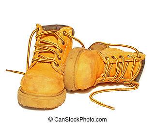 work boots - worn work boots