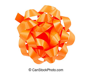 Orange Bow - Isolated Orange Bow