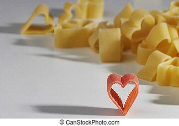 heart shaped noodles - herzförmige Nudelnheart shaped...