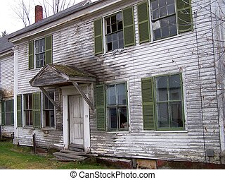Abandoned house - Abandoned old house in need of repair.