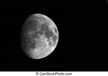 The Moon - waxing moon