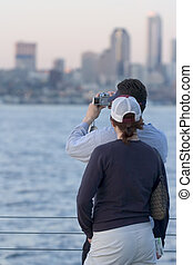 Tourists - Taking pictures of Seattle