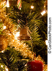 Christmas tree with ornament and light