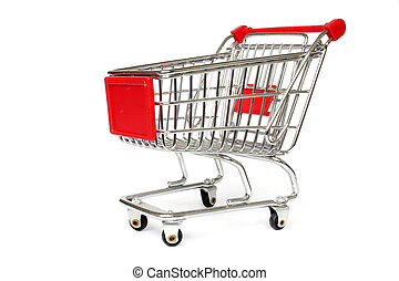 Shopping Trolley - Isolated Shopping Trolley