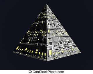 Future Pyramid - Isolated futuristic pyramid