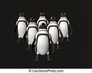 Penguins on Point - Formation of penguins