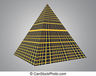 Tech Pyramid - Isolated tech pyramid