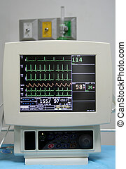 Cardiac Monitor - Cardiac monitor displaying patient\\\'s...