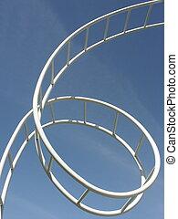 Loop De Loop - Abstract looping roller coaster