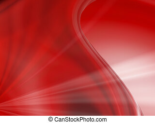 Rays of knowledge - Red abstract background