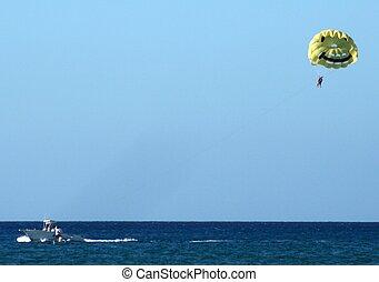Para-Sailing - A person parasailing
