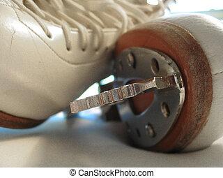 Skate Toepick - Toepick of women\\\'s figure skate in sharp...