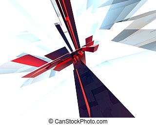 Abstraktum 4 - High res 3D rendered background.