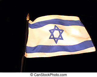 Flag of Israel - , the flag of Israel over black