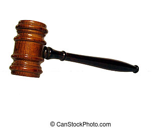 Gavel - , A gavel over white, could be used for a...