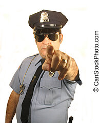 YOU - ,A uiniformed Police Officer pointing his finger at...