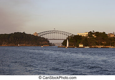 Harbour Bridge - Sydney Harbour Bridge at sunset