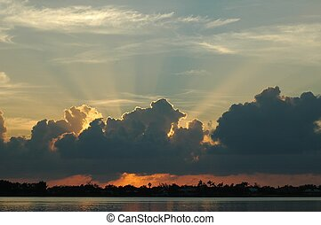 Key West Sunrise - Photographed a sunrise at Key West,...