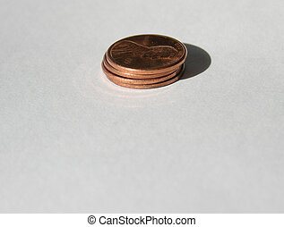 penny stack - stack of pennies