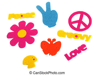 Signs of the 70's - Felt signs and symbols of the 70s