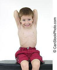Pocket Hercules 58 - Boy lifting weights