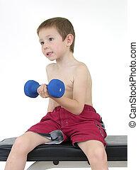 Pocket Hercules 59 - Boy lifting weights