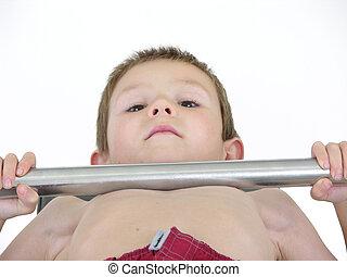 Pocket Hercules 62 - Boy lifting weights