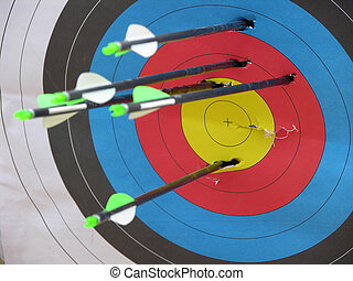 Archery Target - Archery target with arrows
