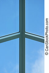 Architectural detail - Aluminum frame, glass fill...