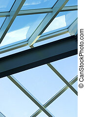 Architectural detail 5 - Aluminum frame, glass fill...