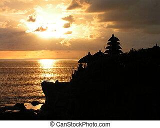 Golden Sunset at Tanah Lot, Bali