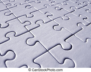 Blue jigsaw pattern - Blue jigsaw background