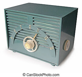 Green retro radio - Funky set from the 1950s