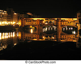 Ponte Vecchio by night, Florence, Italy