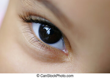 Eye See - Close up of a young child\\\\\\\'s eye