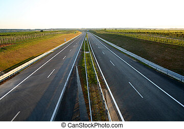 New Highway - Digital photo of an empty and new highway