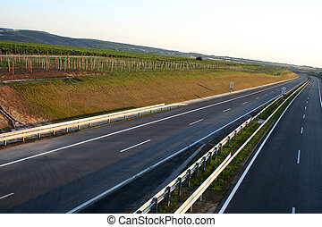 New Highway - Digital photo of an empty new highway taken in...