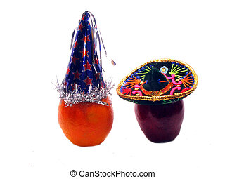 I like your hat - , an apple says to an orange,I like your...