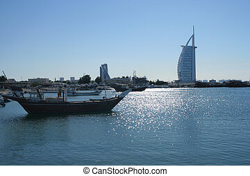 Jumeirah Harbour - a traditional dhow at Jumeirah Harbour...