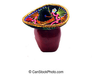 Mexican Apple - , an apple with a mexican hat on it,over...