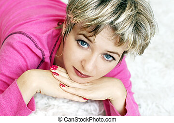 Blue eyes - Beautiful woman with blue eyes