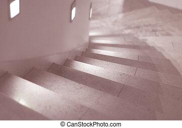 Stairway - lighted stairway
