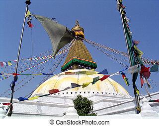 Bodhanath Stupa - The Bodhanath Stupa, in Kathmandu, Nepal
